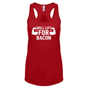 Racerback Will Lift for Bacon Womens Tank Top