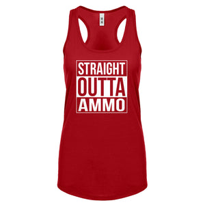 Straight Outta Ammo Womens Racerback Tank Top