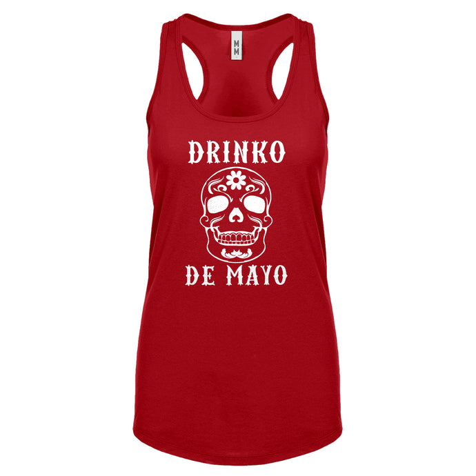 Racerback Drinko de Mayo Womens Tank Top