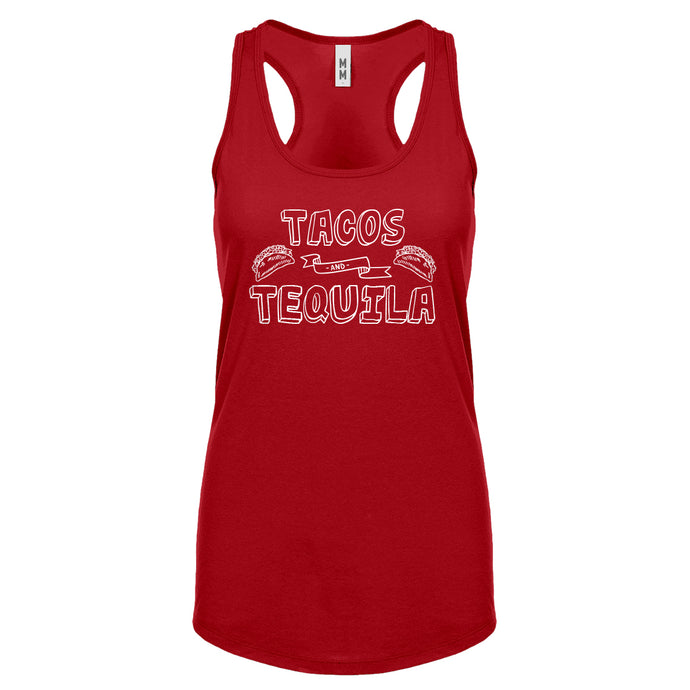 Racerback Tacos and Tequila Womens Tank Top