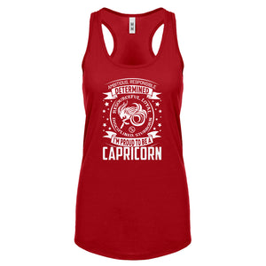 Racerback Capricorn Zodiac Astrology Womens Tank Top