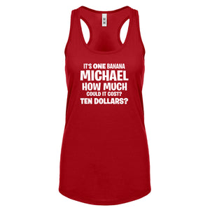 Its ONE BANANA Michael Womens Racerback Tank Top