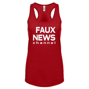 Racerback Faux News Womens Tank Top