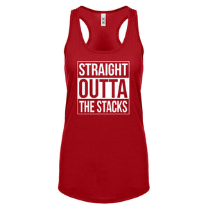Racerback Straight Outta the Stacks Womens Tank Top