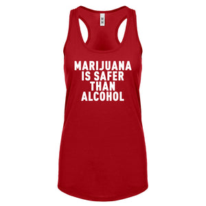 Racerback Marijuana is Safer Womens Tank Top