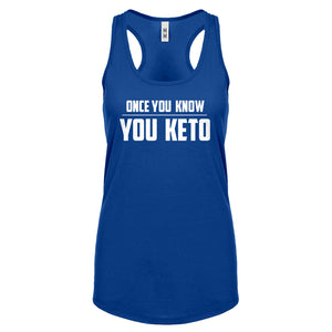 Racerback Once You Know, You Keto Womens Tank Top