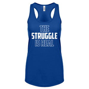Racerback The Struggle is Real Womens Tank Top