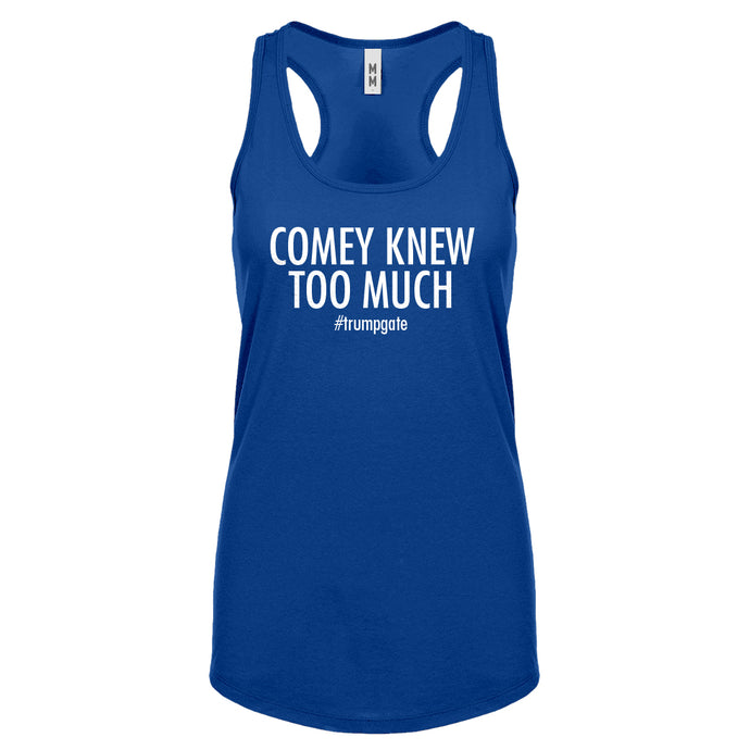 Racerback Comey Knew Too Much Womens Tank Top