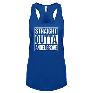 Racerback Straight Outta Angel Grove Womens Tank Top