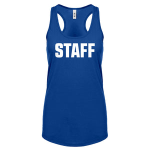 Racerback Staff Womens Tank Top