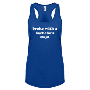 Racerback Broke with a Bachelors Womens Tank Top