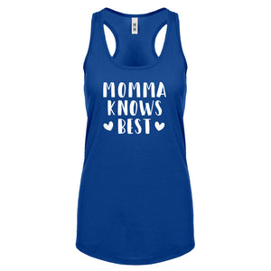 Racerback Momma Knows Best Womens Tank Top