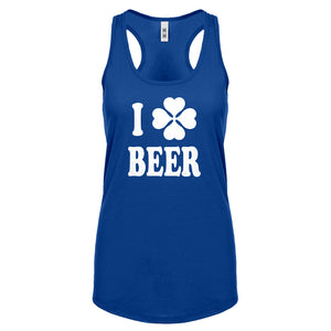 Racerback I Love Beer Womens Tank Top
