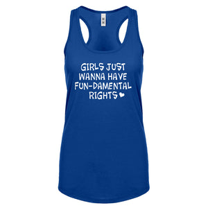 Racerback Girls Wanna Have Fundamental Rights Womens Tank Top