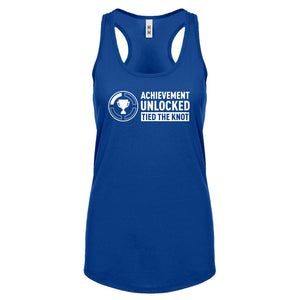 Achievement Unlocked Tied the Knot Womens Racerback Tank Top