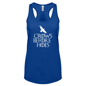 Racerback Crows Before Hoes Womens Tank Top