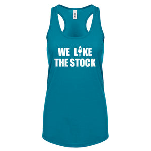 WE LIKE THE STOCK Womens Racerback Tank Top