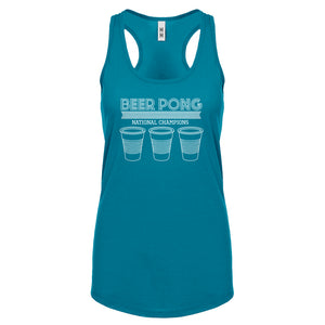 Racerback Beer Pong National Champions Womens Tank Top