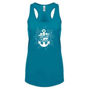 Racerback Love is my Anchor Womens Tank Top