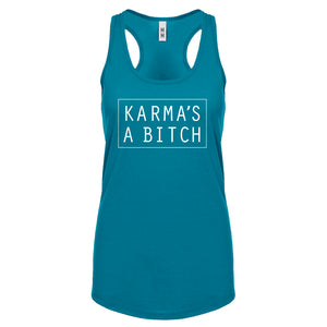 Racerback Karma's a Bitch Womens Tank Top