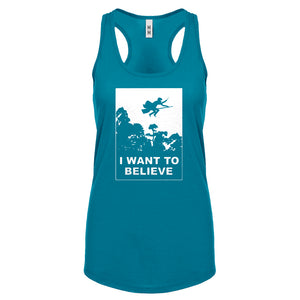 I Want to Believe Wizard Womens Racerback Tank Top