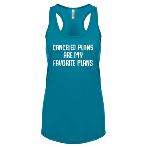Racerback Canceled Plans Womens Tank Top