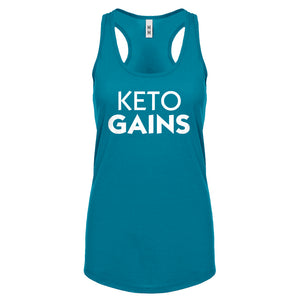 Racerback Keto Gains Womens Tank Top