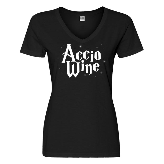 Womens Accio Wine Vneck T-shirt