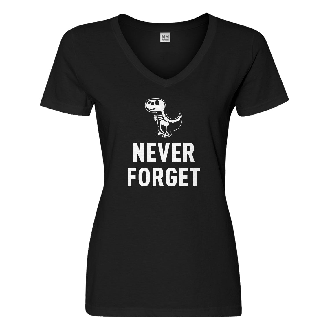 Womens Never Forget Vneck T-shirt
