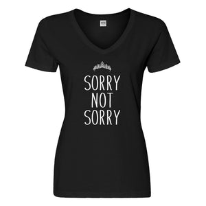Womens Sorry Not Sorry Vneck T-shirt