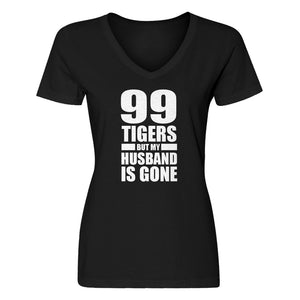 Womens I got 99 Tigers V-Neck T-shirt
