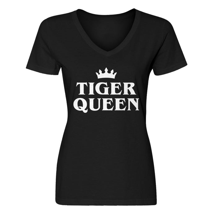 Womens Tiger Queen V-Neck T-shirt