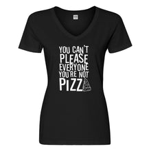 Womens You're Not Pizza Vneck T-shirt