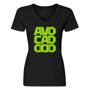 Womens Avocado Vneck T-shirt