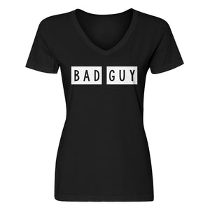 Womens Bad Guy V-Neck T-shirt