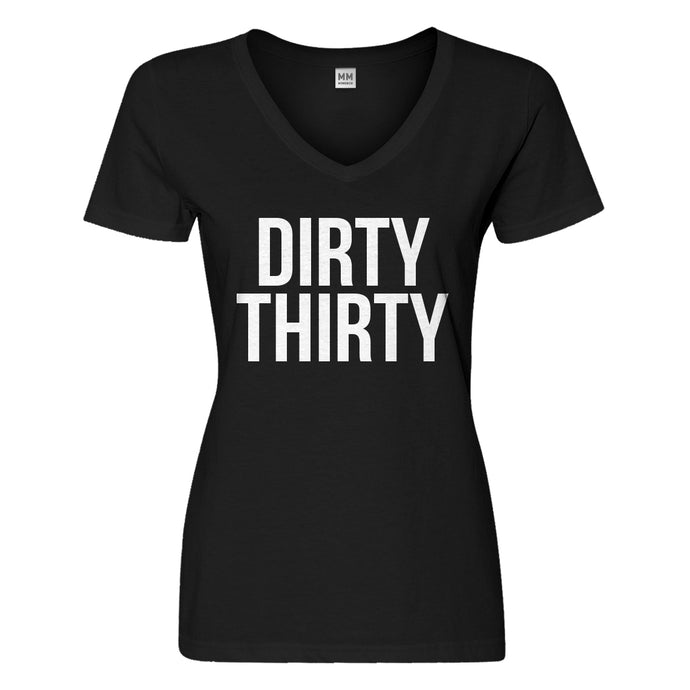 Womens Dirty Thirty Vneck T-shirt