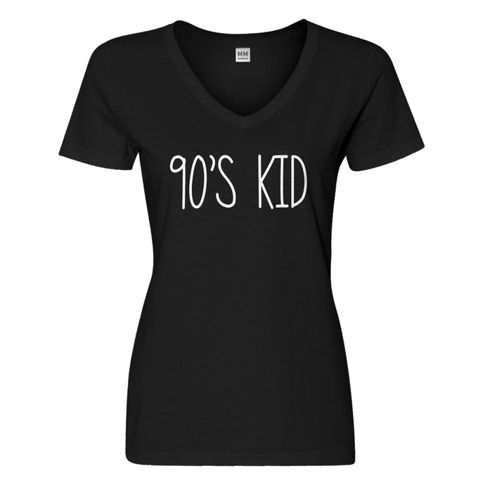 Womens 90s Kid Vneck T-shirt