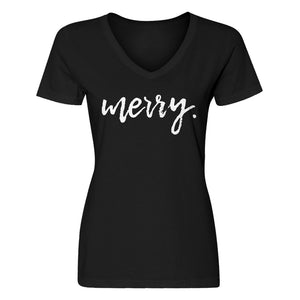 Womens Merry. V-Neck T-shirt