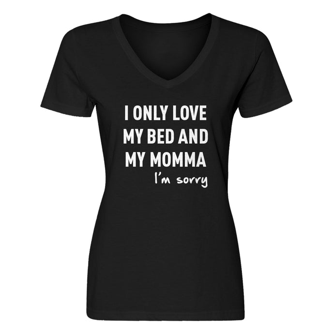 Womens Only Love My Bed Vneck T-shirt