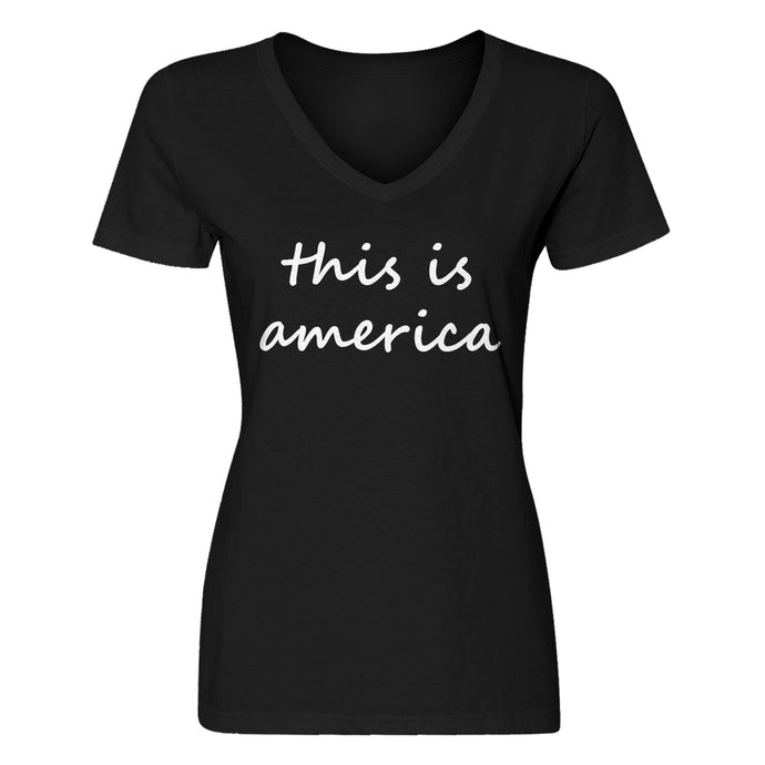 Womens This is America Vneck T-shirt
