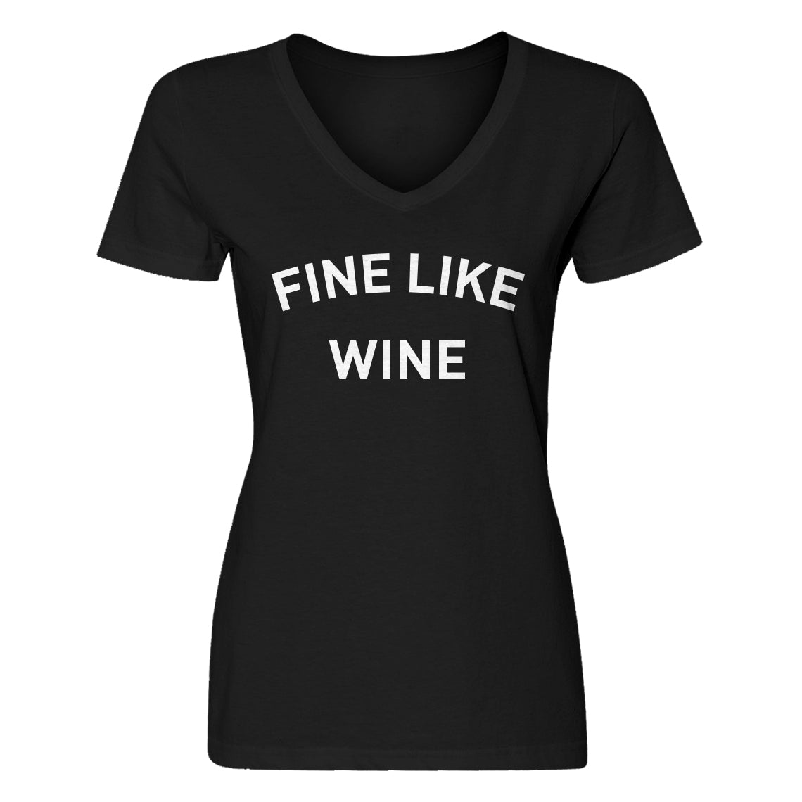 Womens Fine like Wine Vneck T-shirt