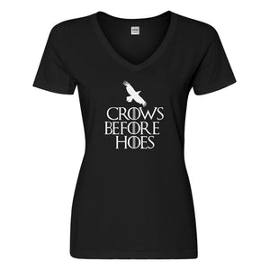Womens Crows Before Hoes Vneck T-shirt