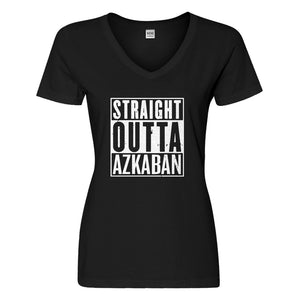 Womens Straight Outta Azkaban Vneck T-shirt