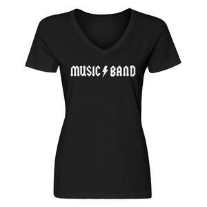 Womens Music Band Vneck T-shirt