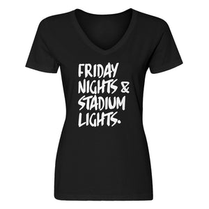 Womens Friday Nights Stadium Lights Vneck T-shirt