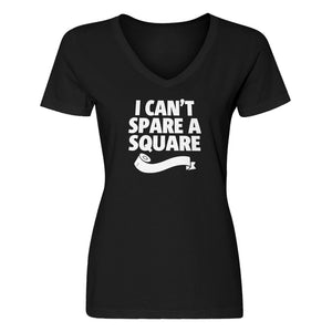 Womens I Can't Spare a Square V-Neck T-shirt