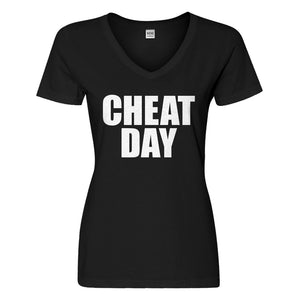 Womens Cheat Day Vneck T-shirt