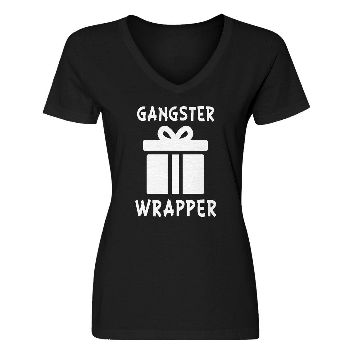 Womens Gangster Wrapper V-Neck T-shirt