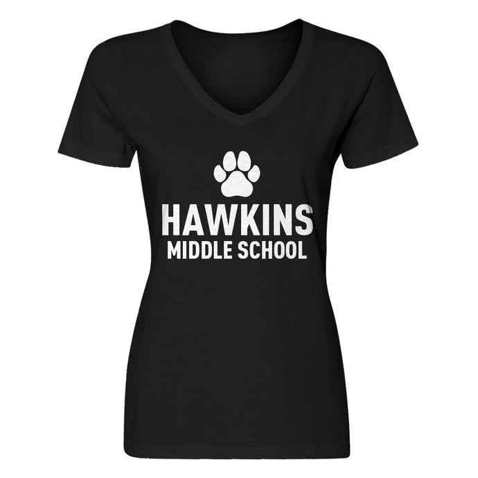 Womens Hawkins Middle School V-Neck T-shirt