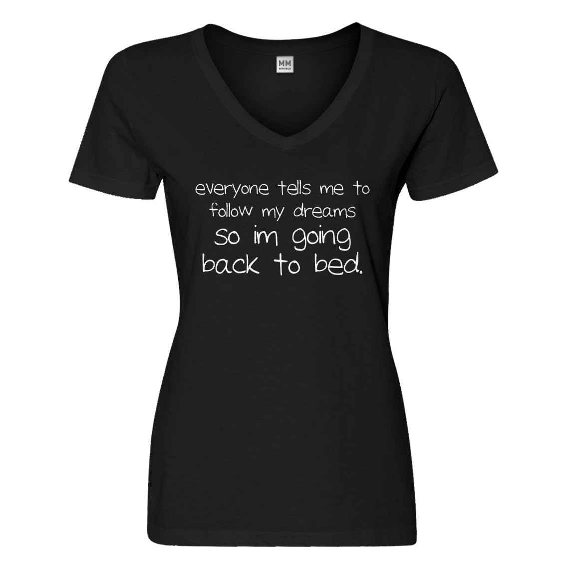 Womens Back to Bed Vneck T-shirt
